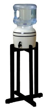 Porcelain-Water-Dispenser-with-Black-Stripes-and-Black-Wood-Floor-Stand