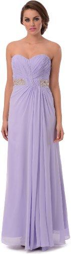 Goddess Long Gown Prom Dress Bridesmaid, Medium, Lilac