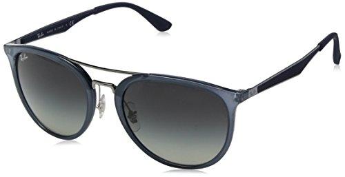Ray-Ban Men's Plastic Man Square Sunglasses, Translucent Blue, 55 - Ray Ban Models Male