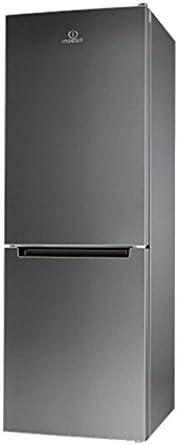 Indesit LI8 FF2I X Independiente 301L A++ Acero inoxidable nevera y congelador - Frigorífico (301 L, SN-T, 39 dB, 4 kg/24h, A++, Acero inoxidable)