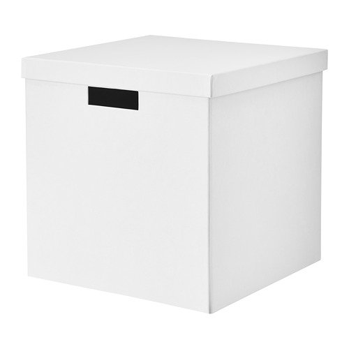IKEA Tjena Storage Box With Lid White 503.954.19 Size 11 ¾x11 ¾x11 ¾ (Tjena Storage Box)