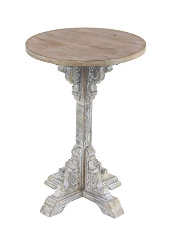 Deco 79 42930 Traditional Round Wooden Accent Table, 15