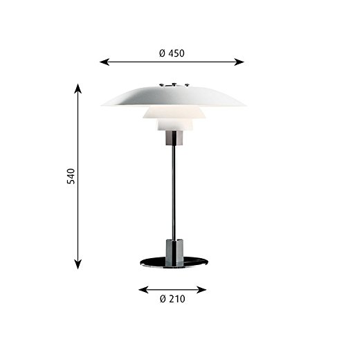 Louis Poulsen PH 4/3 Table Lamp White E27 MAX 100W Design Poul Henningsen