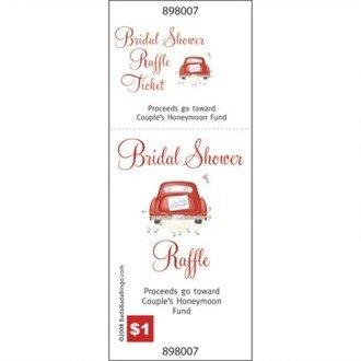 amazon com bridal shower raffle tickets honeymoon car set of 24