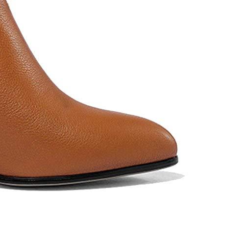 cuir pour bout à fermeture bottines femmes glissière mode Zqzq en blanche chaussures A51wqTHT