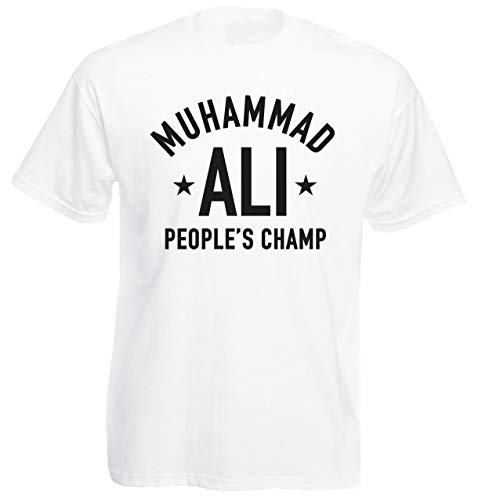 Mens Mohammad ALI T-Shirt PEOPLE'S CHAMP boxing Tshirt ali Cassius Clay shirt