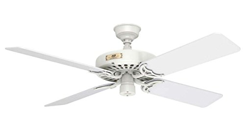 Fan Hunter Bath (Hunter Outdoor Ceiling Fan White 23845 52