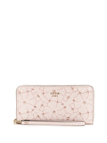 Guess Handbags Wallets - GUESS Jayne Embroidered Zip-Around Wallet