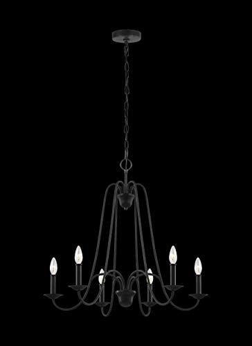 Sea Gull Lighting F3205/6AF Boughton Six Light Chandelier, 6, Antique Forged Iron