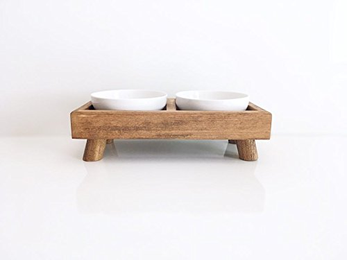 Elevated Dog Bowl for Small Dogs or Cats by Highland Design Co