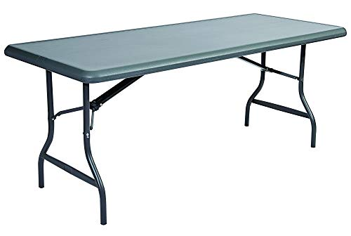 - Iceberg ICE65227 IndestrucTable TOO 1200 Series Steel Legs Plastic Folding Table, 2000 lbs Capacity, 72