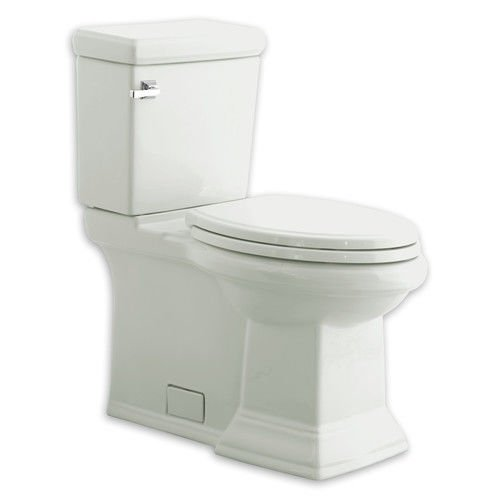 American Standard 2817.128.020 Town Square Concealed Trapway RH Elongated Toilet with Seat, White American Standard Town Square Bone