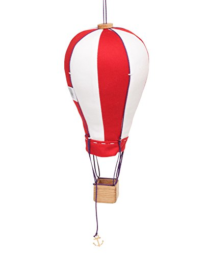 Hanging Textile Hot Air Balloon Mini Kid Room Decor Red White Small