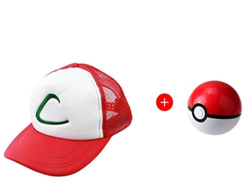 Cosplay Ash Ketchum Hat with One Poke Ball ()