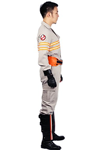 Ghostbusters Costume Deluxe Jumpsuit Embroidery Logo Cotton Halloween Cosplay Xcoser M by xcoser (Image #1)