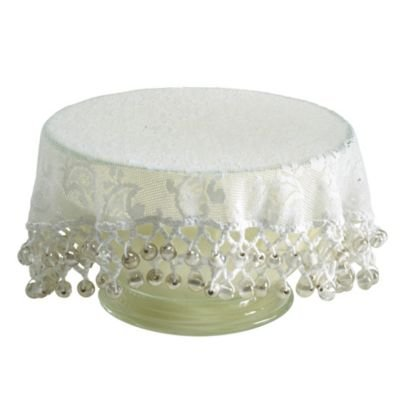 Lakeland Lace Effect Beaded Food Bowl & Pot Cover - 22cm White