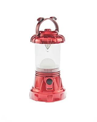 SE FL806-3RR 3-Piece Red Camping Light Set: 11-LED Lantern, 10-LED Headlamp & 9-LED Flashlight