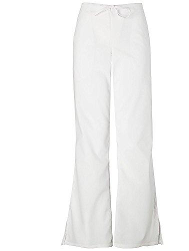 (Cherokee Women's Workwear Scrubs Flare-Leg Drawstring Pant White Petite XX-Large)