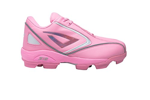 (3N2 Rookie Elite Youth Molded Cleat, Pink, Size 4.5)