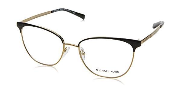 3288ee6b56 Michael Kors NAO MK3018 Eyeglass Frames 1195-54 - Matte Black/pale Gold-tone  MK3018-1195-54 at Amazon Men's Clothing store: