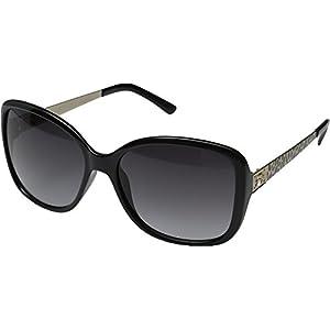 GUESS Women's Acetate Oversized Square Sunglasses, Blk-35, 58 mm