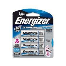 Energizer Ultimate Lithium Batteries Batteries AA 4 ea
