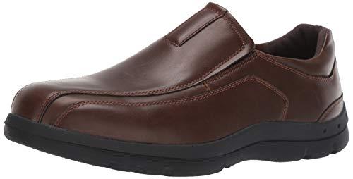 Deer Stags Men's Saxon Memory Foam Classic Runoff Toe Dress Comfort Slip-On Loafer Dark Brown 10 M US ()