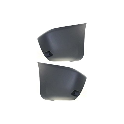 Bumper End Compatible with Toyota RAV-4 2001-2003 Rear Left and Right Side Primed W/Reflector Holes Holes