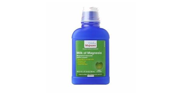 Amazon.com: Walgreens Milk Of Magnesia, Mint, 26 fl oz: Health & Personal Care