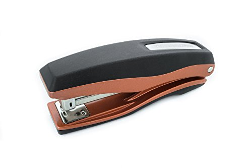PraxxisPro Basileus Heavy Duty Metal Stapler Value Pack with 25 Sheet Capacity - Includes Staples and Staple Remover - Jam Free Stapler Set for Professional and Home Office Use (Crystal Copper)