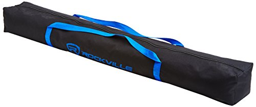 Price comparison product image Rockville RVSS4A Zipperd Heavy Duty Carry Bag with Handles 4 Speaker Stand