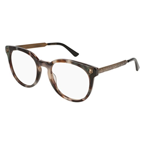 Gucci GG 0219 O- 009 HAVANA / GOLD - Eyeglasses Gucci Gold Mens