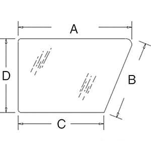 all states ag parts cab glass door lower lh. Black Bedroom Furniture Sets. Home Design Ideas