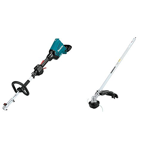 Makita XUX01Z 18V X2 (36V) LXT Lithium-Ion Brushless Cordless Couple Shaft Power Head, Tool Only with EM405MP String Trimmer Couple Shaft Attachment