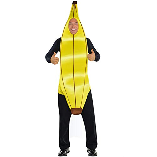 SP Funworld Banana Costume for Adult Halloween Lightweight Fun Costumes, Yellow, Medium -