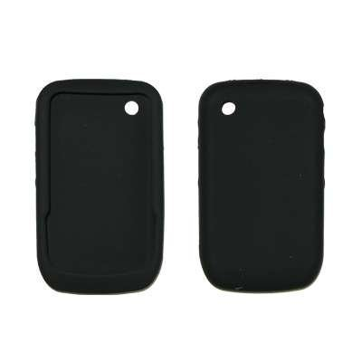Black Soft Silicone Gel Skin Cover Case for BlackBerry Curve 8520 ()