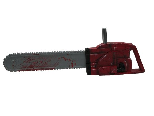 Halloween Saw Costume (Texas Chainsaw Massacre 3D Chainsaw with Sound, Red, One Size)