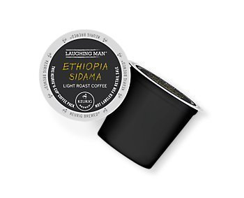 Laughing Man Ethiopia Sidama Coffee Keurig K-Cups, 16 Count