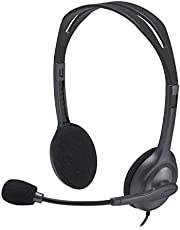 Logitech 981-000588 H111 Basic Stereo Headset with Single 3.5mm Jack