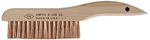 Ampco Safety Tools B-399 Brush with Scratch Shoe Handle, Non-Sparking, Non-Magnetic, Corrosion Resistant