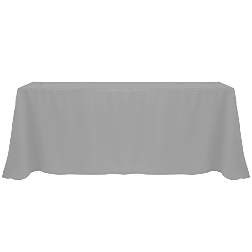 Ultimate Textile (3 Pack) 90 x 156-Inch Rectangular Polyester Linen Tablecloth with Rounded Corners - for Wedding, Restaurant or Banquet use, Charcoal Grey by Ultimate Textile