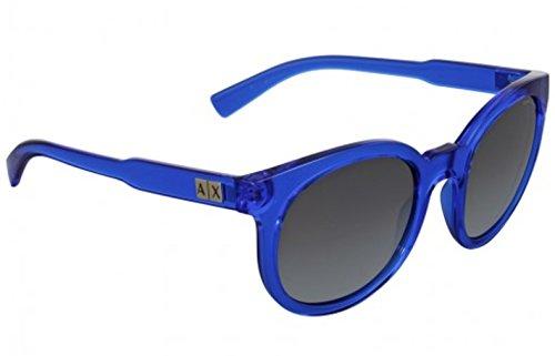 Armani Exchange AX4057S Sunglasses 821011-53 - Transparent Light Blue Frame, Grey Gradient