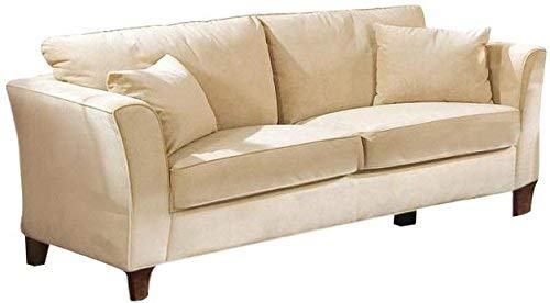 Coaster Park Place Transitional Cream/Cappuccino Sofa with Flair Tapered Arms and Accent - Place Velvet Sofa Park