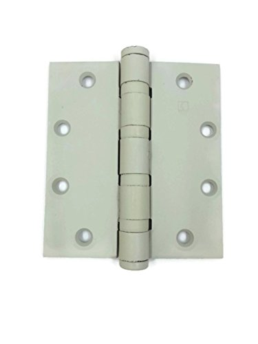 Hager Full Mortise Steel Hinge BB1168 NRP 5.0 x 4.5 USP/600 (Prime for Paint) - Box of 3 Heavy Weight Ball Bearing hinges by HAGER Companies