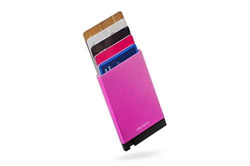 POCKETO - more than a card holder! STOP RFID blocking system (Pink)