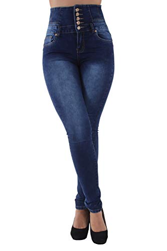 Colombian Design, Butt Lift, Levanta Cola, High Waist, Skinny Jeans in Blue Size 9 (ML1)