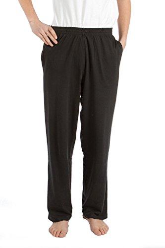 Pembrook Mens Jersey Knit Pants-3XL-Black - Elastic Waist Jersey Knit Pants