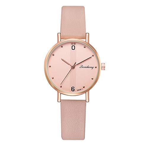 chenqiu Stylish and Casual Quartz Watch, Ladies Luxury Minimalist Striped dial Leather Strap with Diamonds British Watch