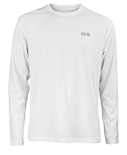 "Time To Run Men's Favourite Long Sleeve Running Gym T Shirt Top XL 45"" - 47"" White"