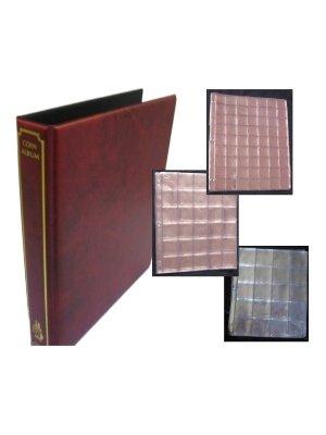 Kit de iniciación para monedas de almacenamiento álbum archivador rojo